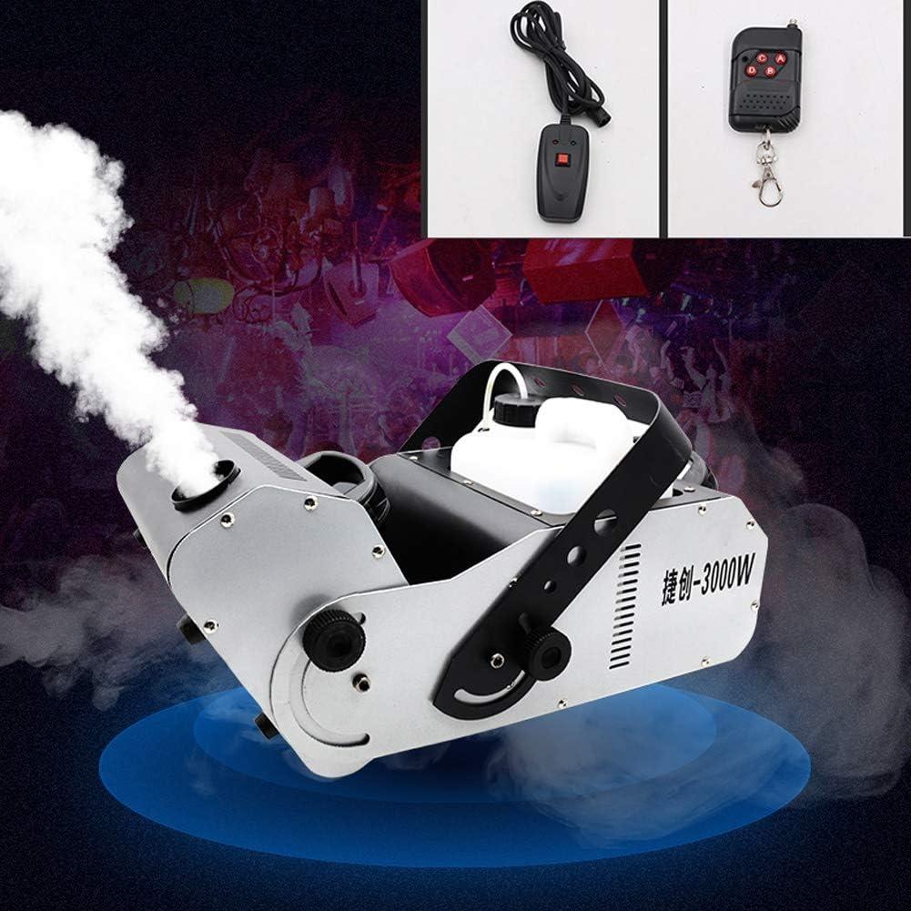 るフォグマシン 煙霧機 - ハロウィンウェディングパーティーディスコDJの影響のためのマルチアングル、ワイヤレスリモコン付き3000Wスモークマシン