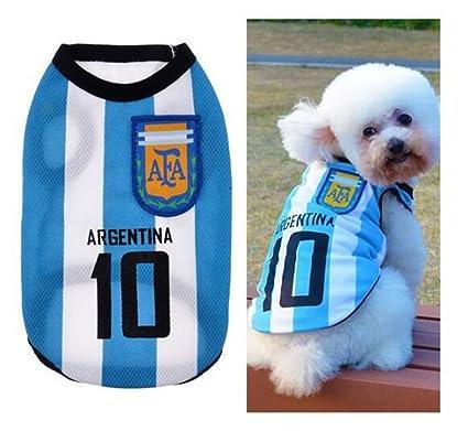 BNASA 2018 Rusia World Cup Argentina - Camiseta de fútbol para perro