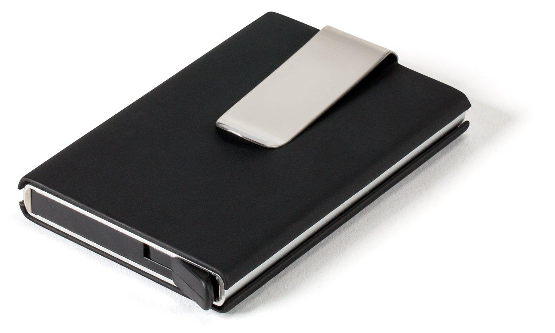 Kartenetui Limited Edition  Kreditkartenetui mit Leder  RFID & NFC Schutz   Geldbörse für Herren   Geldbeutel   Kartenbörse   Geldclip   Karten-Portemonnaie   Abgeschirmt
