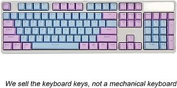 Rosa Púrpura Azul Tapa de la tecla del Teclado mecánico 104 ...