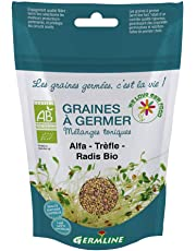 Germ'Line BIO Graines Alfalfa Trèfle Radis à Germer 150 g