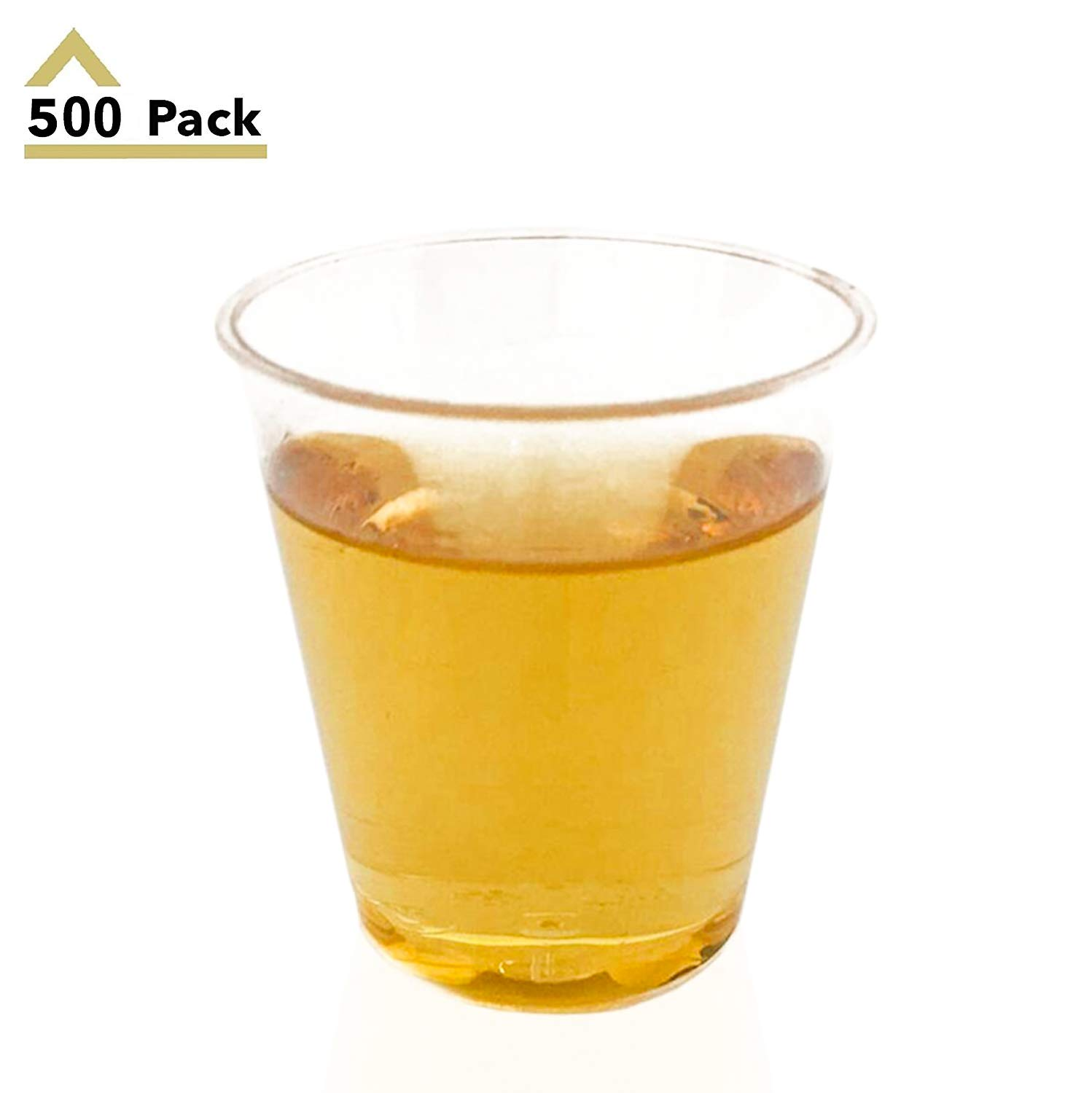 500 Pack Clear Plastic Shot Glasses 1.5oz Disposable Shot Glass – Small Party Cups Great for Whiskey Shooters and Wine Tasting – Stock Your Home
