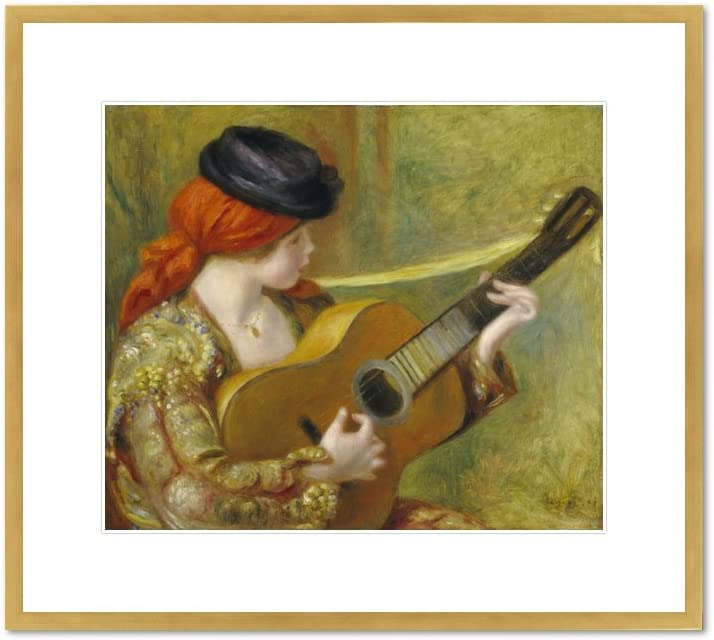 YOUNG SPANISH WOMAN WITH A GUITAR 1898 PAINTING BY AUGUSTE RENOIR REPRO