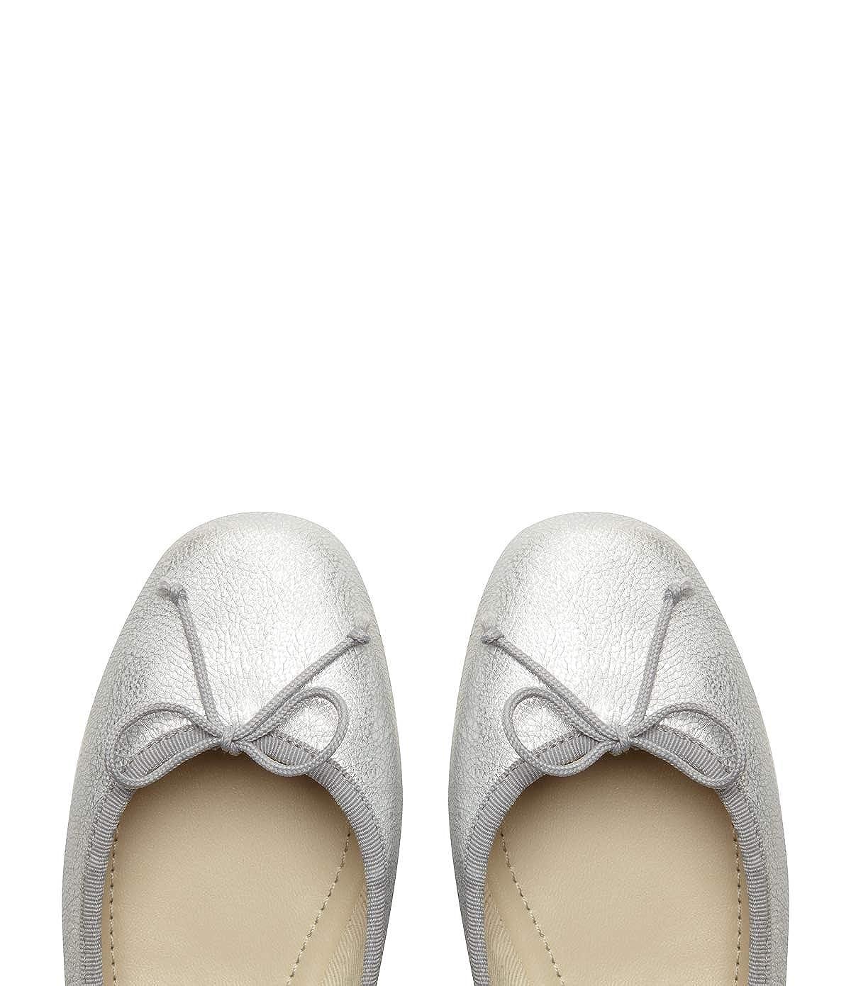 Poi Lei Damen-Schuhe Klassische Leder Ballerinas Bonita Silber Flach Leder Klassische 6d6faf