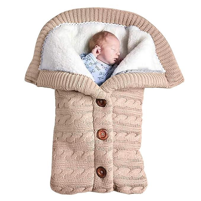 Yinuoday - Manta para bebé recién nacido con terciopelo para cochecito de bebé, manta de forro polar suave y cálida para niños y niñas beige beige ...