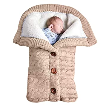 Newborn Baby Swaddle Blanket Fleece Stroller Wrap Nap Blanket Plus Velvet,Baby Kids Toddler Thick...