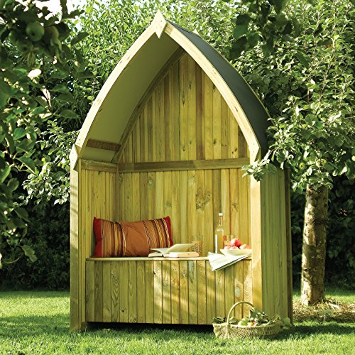 Arbor Seat - Bosmere English Garden Wooden Boat Arbor with Seat