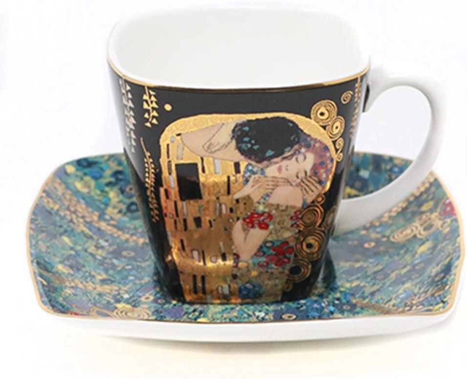 Goebel 66884727 Tazzina da caff/è e piattino Il Bacio di Gustav Klimt