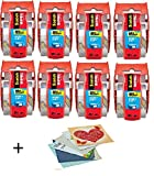 Scotch Heavy Duty Shipping Packaging Tape, 1.88 inches x 800 inches, 6 Rolls with Dispenser, 1.5 inch Core (142-8) 8 Pack - 6 Pinkleaf Greeting Cards Included