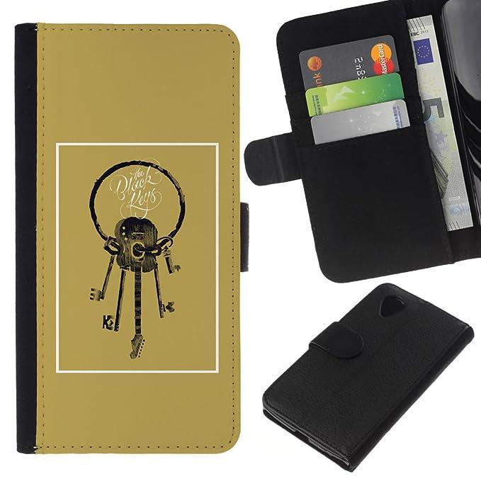 Protección dHandy TaiTech/funda billetera vacía de significado - Estuche de oro Brown - - LG nexo 5 D820 D821: Amazon.es: Electrónica