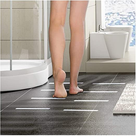 Cinta Antideslizante - Tiras Antideslizantes,para Duchas, Bañeras y Escaleras, Adecuado para Escalones, Pasillos de Pisos Laminados: 38x2cm(6 Piezas): Amazon.es: Hogar