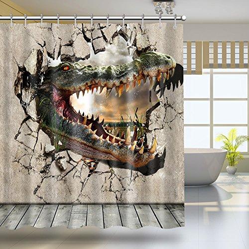 3D Bathroom Polyester Waterproof Shower Curtain 7# - 1