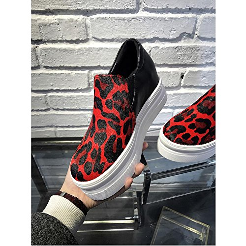 WSXY Créatif Femme Red Double Semelles A0509 Chaussures Dessus Plateformes KJJDE à qH6ywtY