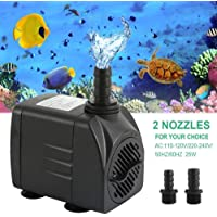 Generic um Fish Tank Water Pump Aquarium Pond 1500LPH Adjustable Submersible Sump Aquarium Water Pump Fish Tank 1500LPH Adjustable