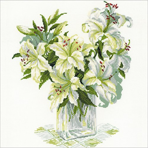 "RIOLIS White Lilies Counted Cross Stitch Kit-17.75""X17.75"" 1"