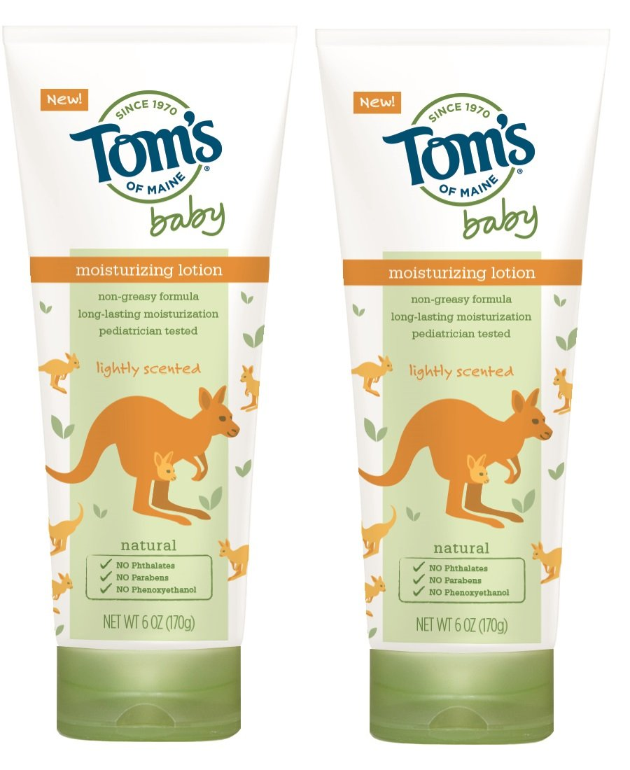 Tom's of Maine Natural Baby Moisturizing Lotion, Lightly Scented, 6 Ounce, 2 Count