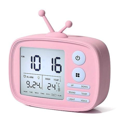 XWWS Relojes De Alarma para Niños. Reloj Digital Electrónico ...