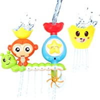 Barwa Bath Toys for Babies, Shower Spray Toys for Toddler Kids Water Shower Bathtub Toy with Stackable and Nesting Cups…