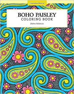 boho paisley coloring book color studio debra valencia 0704550046081 amazoncom books - Paisley Designs Coloring Book