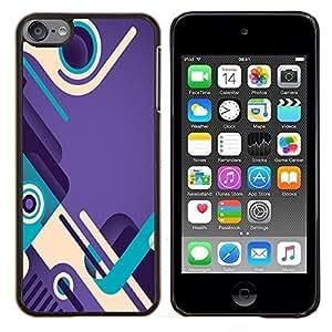 KLONGSHOP // Cubierta de piel con cierre a presión Shell trasero duro de goma Protección Caso - trullo púrpura bucle zapatos de diseño abstracto - Apple iPod Touch 6 6th Touch6 //