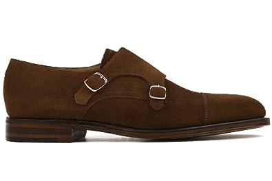 Amazon Com Loake Men S Suede Cannon Double Monk Strap Shoes Uk 11