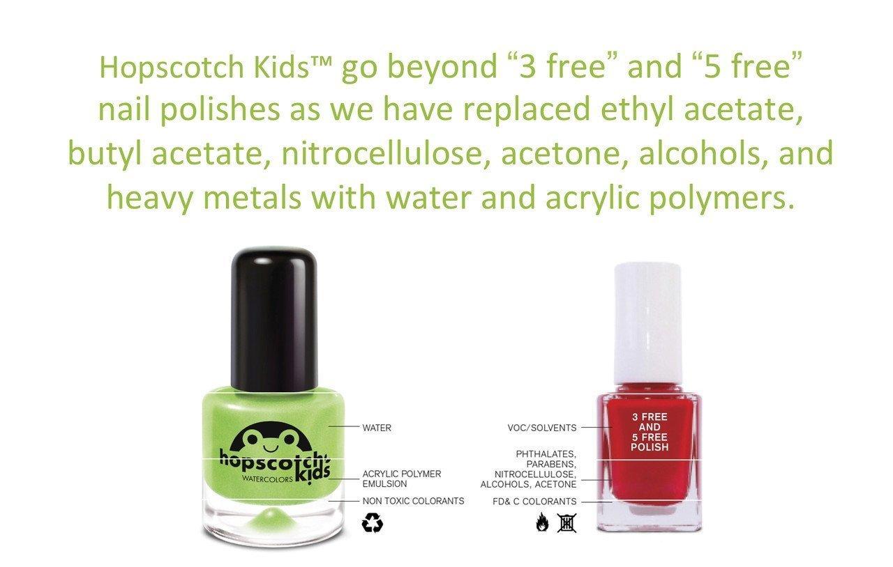 Hopscotch Non-Toxic Water-Based Kid Safe Nail Polish, Ink a Bink ...