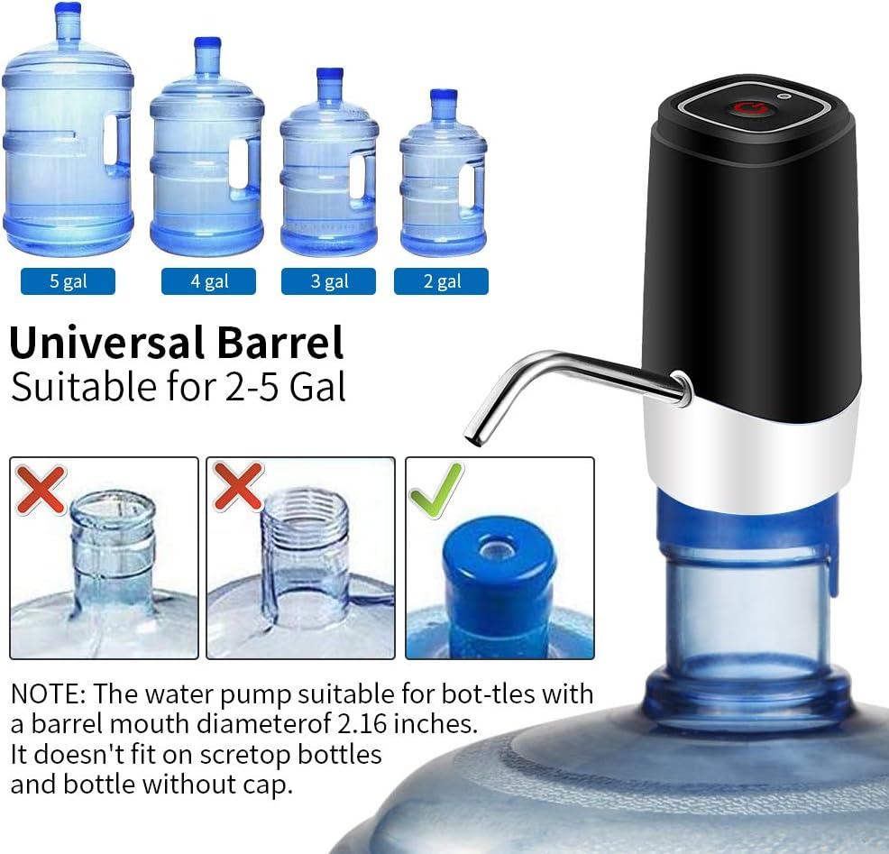 Water Bottle Pump Water Bottle Dispenser 5 Gallon USB Charging Portable Electric Drinking Water Pump Dispenser for 2-5 Gallon Bottle
