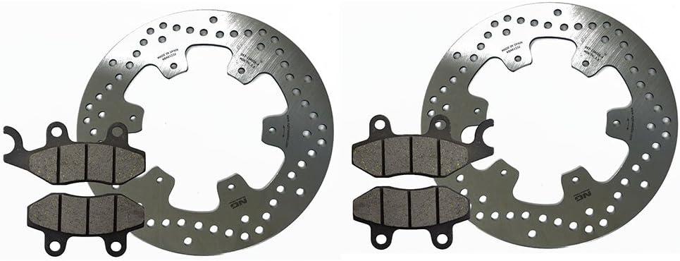 2x Vorderradbremsscheiben Kompatibel Mit Ersatz Für Yamaha Xtz 750 Super Tenere Mit Bremsbelag Set Vorne Bremsscheiben Für Das Vorderrad Auto