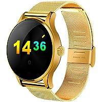 HRRH Bluetooth Smartwatch Impermeabile, Tracker Fitness, contapassi e contacalorie per Donne