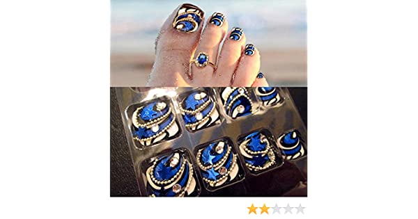 24 uñas postizas de acrílico UV Gel Fake Nail Art Tips para ...