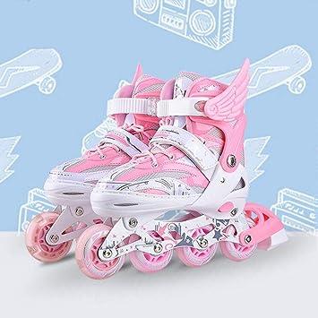Y-M-H Patines de Ruedas Patines cuádruples Zapatillas Juveniles Infantiles Juveniles Infantiles para niños Patines Cuchillas Patines