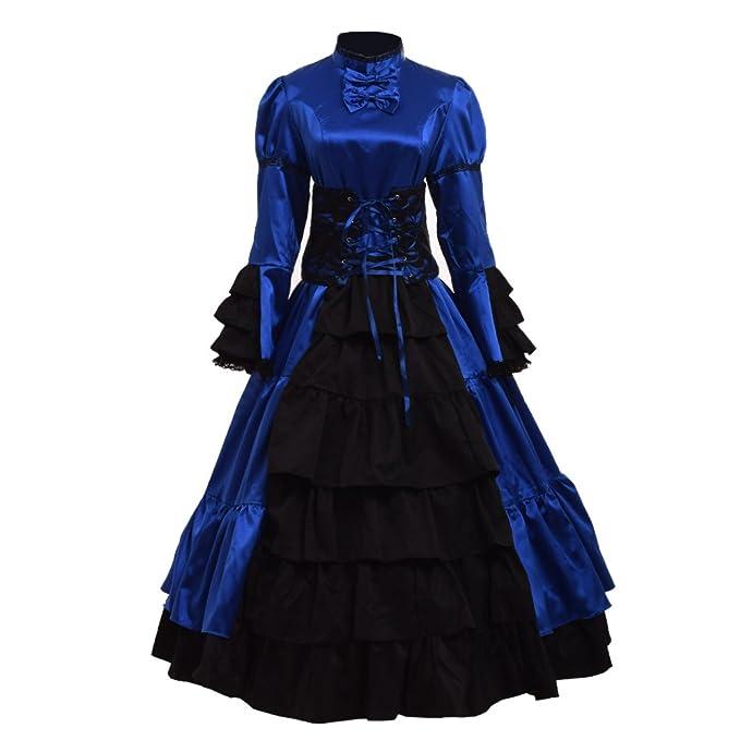 GRACEART Gótico Victoriano Pelota Vestido Recreación Disfraz Vestir (Small)