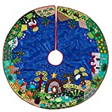 Serrv Fair Trade Handmade Stunning Details Arpillera Nativity Tree Skirt