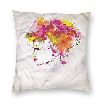 Amazon.com: Clayii - Almohada con patrón abstracto de malla ...