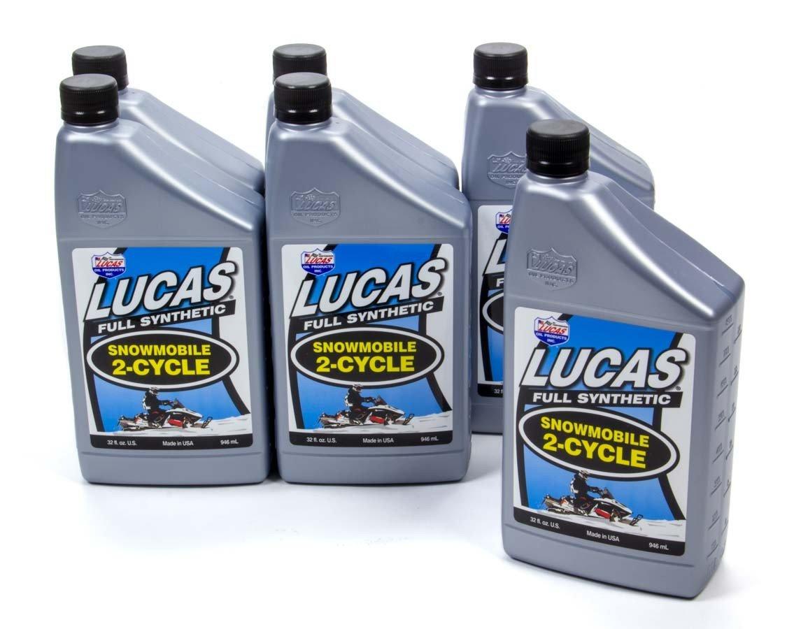 Lucas Oil 10835 – 6 ( 2サイクルオイル合成ケーススノーモービル、6 x 1 Qt。)、1パック B07657G4CK