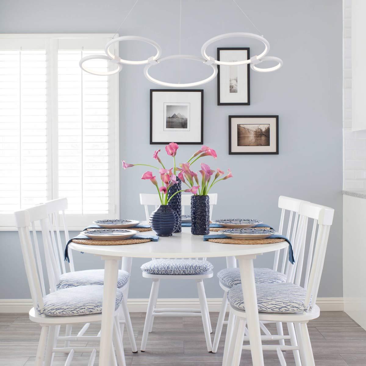Amazon.com: Moderna lámpara de araña circular LED simple ...