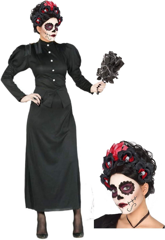 Disfraz de Catrina Viuda: Amazon.es: Ropa y accesorios