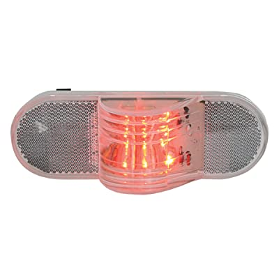 """Grand General 79843 6"""" Oval Side Red LED Marker/Turn/Clearance Light (W/ Reflector for Trucks, Trailers, RVs, Buses, Utility Vehicles Oval side LED): Automotive"""