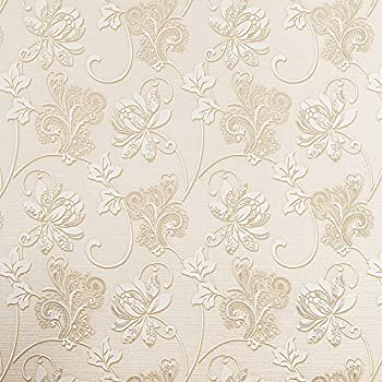 sicohome 3d embossed texture flower peel and stick wallpaper white 11 yards. Black Bedroom Furniture Sets. Home Design Ideas