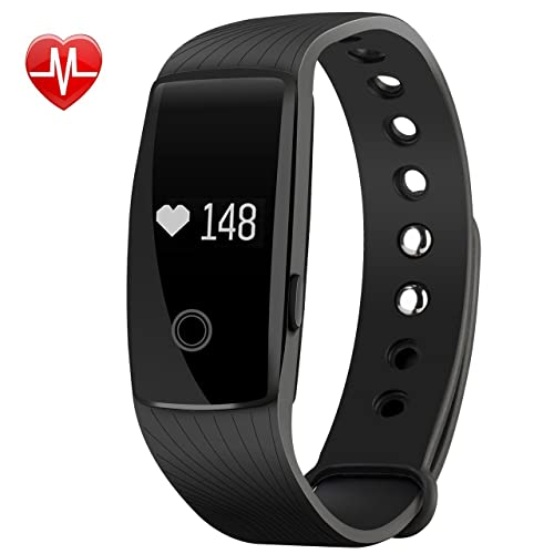 Mpow Fitness Tracker, Activity Tracker Heart Rate Monitor with 14 Exercise Modes Sleep Monitor with GPS Route Tracking Pedometer Step Counter with 4 Watch Faces for Android or iOS Smartphones