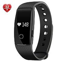 Mpow Pulsera Actividad Monitor de Pulso Cardíaco Pulsera Inteligente de Fitness Pulsómetro Bluetooth Rastreador de Salud con Monitor de Sueño Podómetro para Móvil Inteligentes de Android y iOS