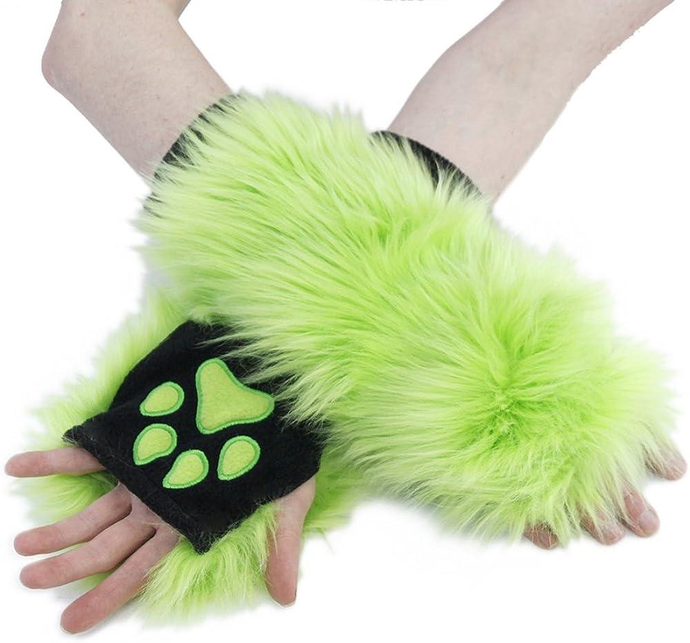Pawstar Green Furry Paw...
