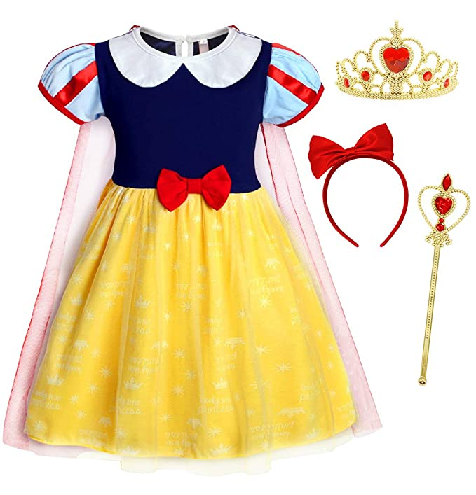 AmzBarley Blancanieve Disfraz Vestido Princesa Blancanieves ...