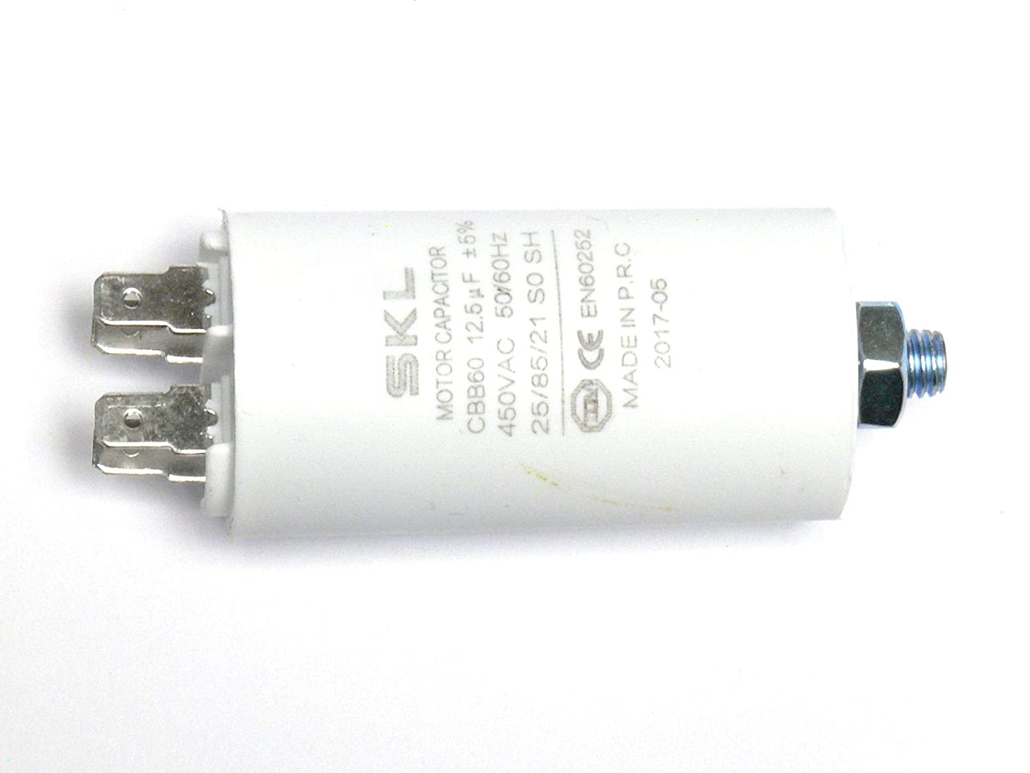 Electric Motor Condenser 1.5 /μF uF //-5/% 450 V with Connectors EN60252-1