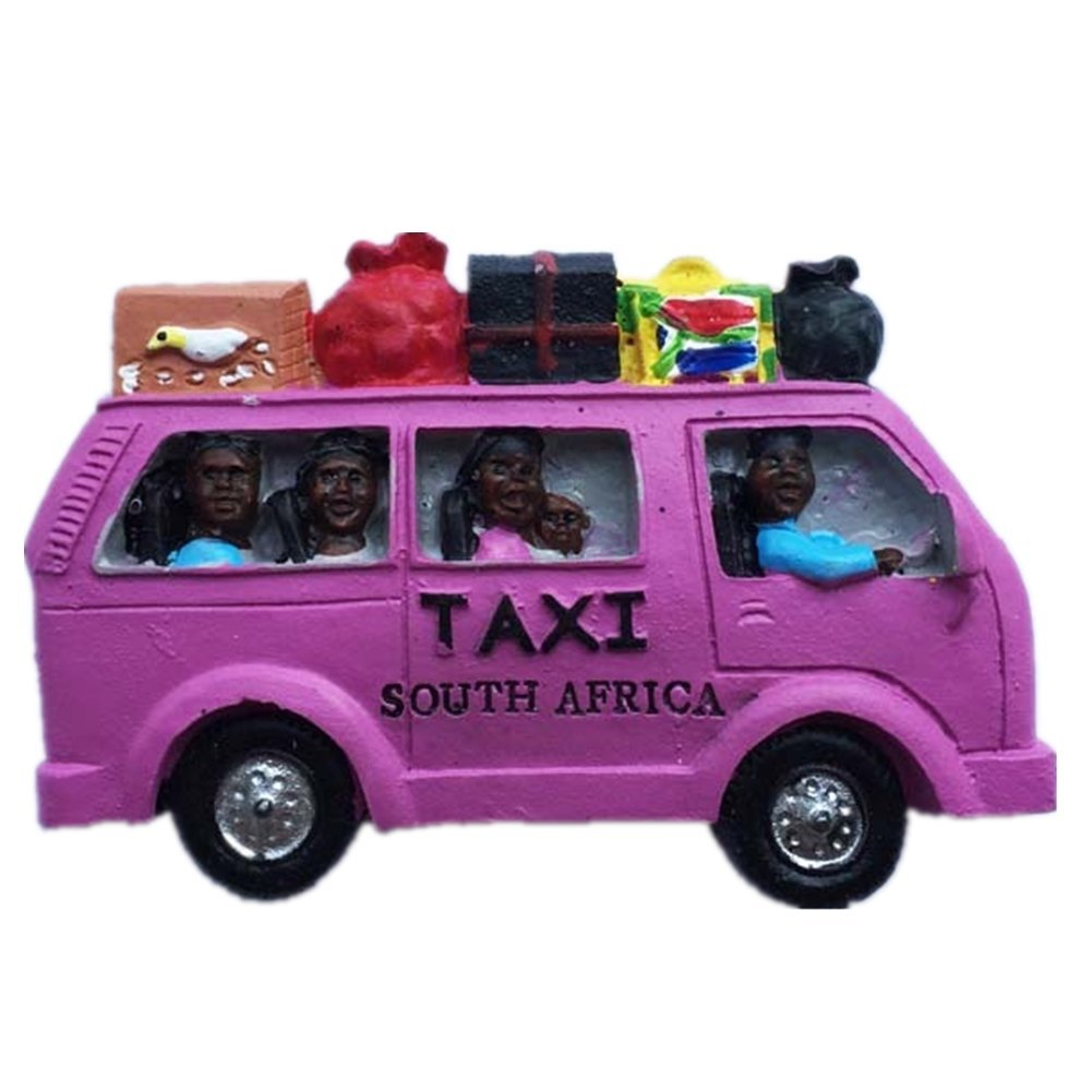 Taxi south africa resin 3d strong fridge magnet souvenir tourist gift chinese magnet hand made craft creative home and kitchen decoration magnetic sticker