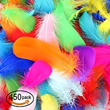 450 Pcs Feathers Colorful Feathers Crafts For DIY Craft Wedding Home Party Decorations, 10 Colors