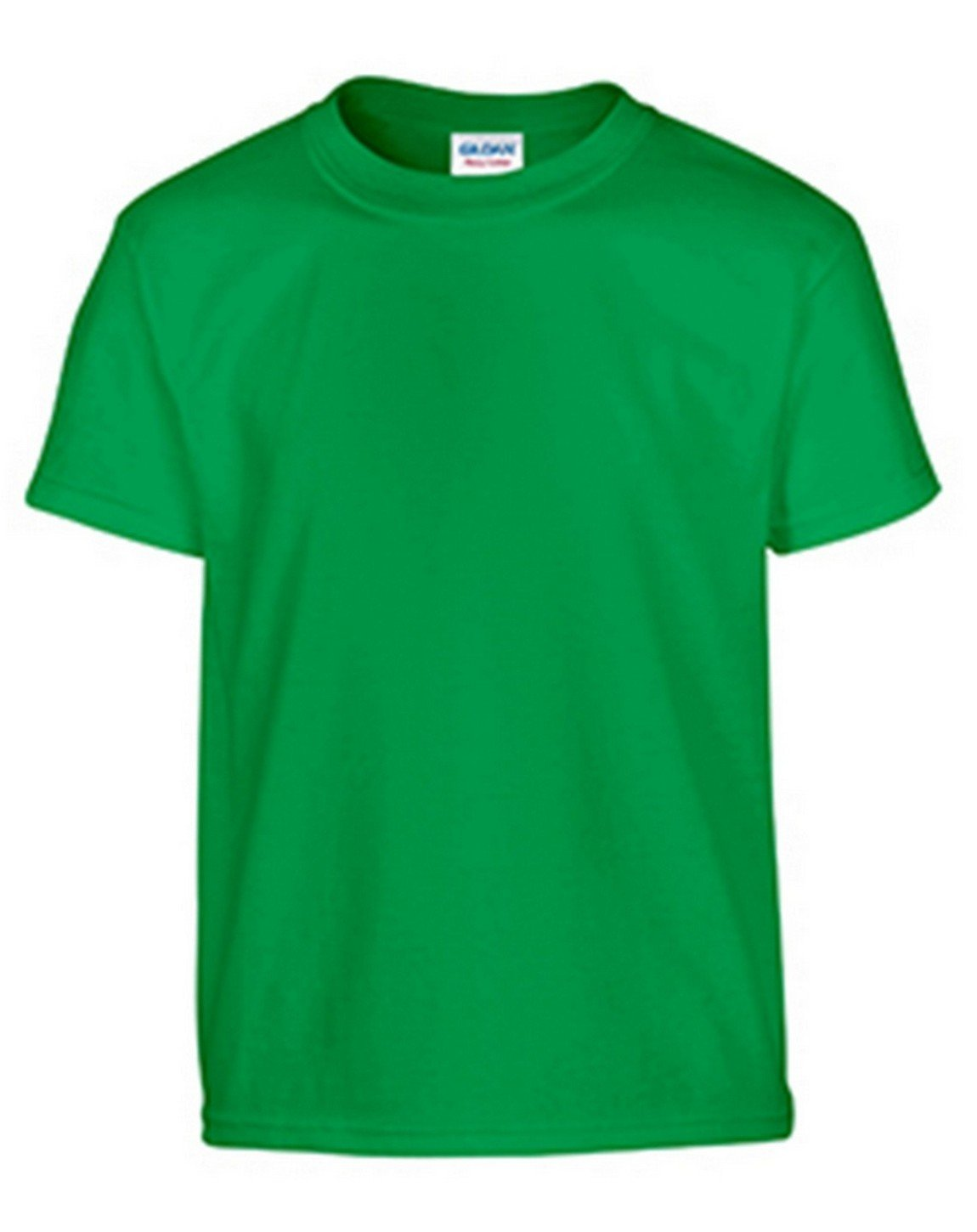 Gildan Big Boys Heavy Taped Neck Jersey T-Shirt, Irish Green, Small