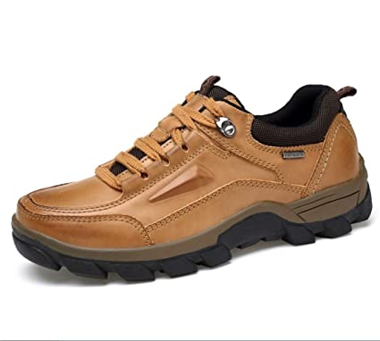 5a92746ac60ad Amazon.com: SHANGWU Men's Outdoor Casual Shoes First Layer of ...