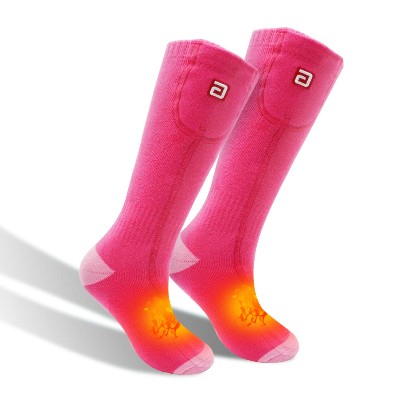Men Women Socks Electric Socks Heated Socks for Chronically Cold Feet, Rechargeable Batteries Socks Hiking Socks Skiing Socks Socks(Pink) by Highting
