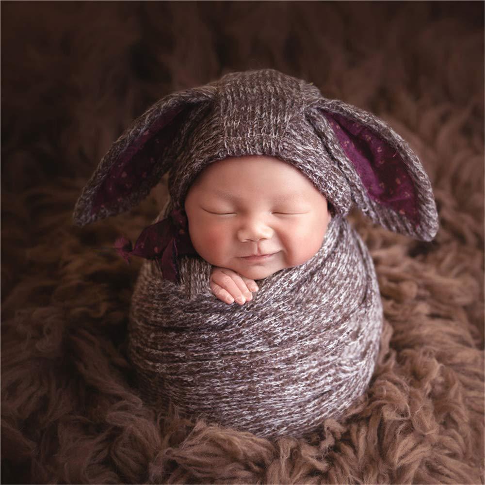 Dvotinst Newborn Photography Props Baby Outfits Hat Wrap Pillow Backgound Backdrop Balnket Set Studio Shoots Fotografia Accessories Photo Props (20-2) by DVOTINST (Image #1)